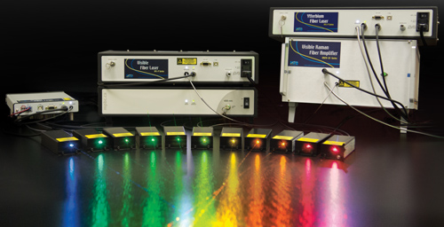 Continuous Wave Visible Fiber Lasers